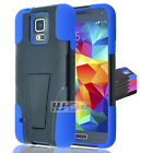 For ZTE Radiant Hybrid Rubber Hard Y Stand Case Colors