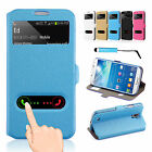 Flip Wallet Leather Case Cover Stand For Samsung Galaxy S4 i9500 + Screen Guard
