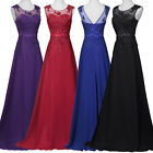 Lace Long Bridesmaid Formal Evening Party Wedding Ball Gown Prom Dress Size 6+20