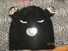 GIRLS / LADIES SEQUIN BEAR BEANIE HAT ONE SIZE MULTI COLOURS AVAILABLE