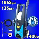 Silverline 1958psi Pressure Washer 5m Hose Jet Power Wash car patio slabs lance