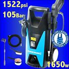 Silverline 1520psi Pressure Washer 5m Hose Jet Power Wash car patio slabs lane