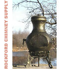 Chiminea Outdoor Firepit Etruscan Design - Available in 3 Color Options