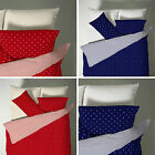 Catherine Lansfield Polka Dot Spotty Striped Duvet Quilt Cover Bedding Set