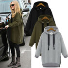 Womens Casual Jacket Ladies Long Sleeve Hoodie Coat Top Hooded Jumper Sweatshirt
