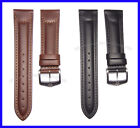 22mm Black or Brown Replacement Leather Watch Band Strap Suits Wenger Swiss Army