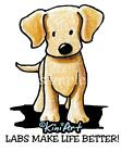 Yellow Lab Ladies Tshirts or Nightshirt 7675Y kiniart akc puppy dog NWT