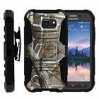 For Samsung Galaxy S6 Active Rugged Holster  Belt Clip Stand Case HUNTERS CAMO