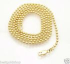 2.5mm All Shiny Round Bead Ball Chain Necklace REAL Solid 10K Yellow Gold