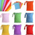 Baby Waterproof Nappy Wet Dry Cloth Zipper Bag Reusable Washable Diaper Pouch