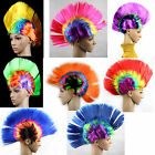 Punk Mohican Rocker Wigs Mohawk for Fancy Party Halloween Dress Cosplay Costume