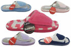 Ladies Slippers Grosby Invisible Support Velcro Slide Pink Navy Lavender Blue Si