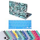 "Designer Pattern Case Cover Shell + Keyboard Skin for Macbook Pro Retina 13"" 15"""