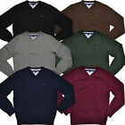 Tommy Hilfiger Sweater Pacific V-Neck Mens Pullover Classic Fit Long Sleeve Logo