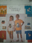 McCALL'S # 8734-CHILDS SUMMER T-SHIRT w/APPLIQUES & ELASTIC SHORTS PATTERN 2-8uc