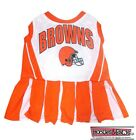 CLEVELAND BROWNS NFL Dog CHEERLEADER Pets Outfit Dress All Sizes XS - M Game
