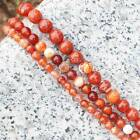 Faceted Red Fire Agate 6-14mm Round Loose Beads 15""