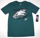Nwt New Philadelphia Eagles Logo Football NFL Top Shirt Silky Green Nice Boy