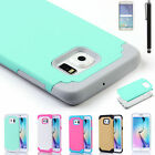 Shockproof Hybrid Rugged Rubber Hard Case Cover For Samsung Galaxy Note 4 5 &S6