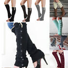 Women Girl Crochet Knit Lace Trim Boot Cuffs Toppers Leg Warmers Winter Socks