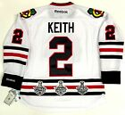DUNCAN KEITH CHICAGO BLACKHAWKS 3X STANLEY CUP CHAMPIONS PATCHES ROAD JERSEY