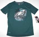 Nwt New Philadelphia Eagles Logo Football NFL Top Shirt Silky DRI TEK Green Boy