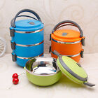 Round Stainless Steel Portable Insulation Thermal Lunch Box Food Container Box