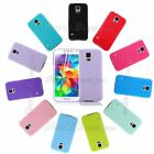 Soft TPU Silicone Rubber Gel Back Case Cover for Samsung Galaxy S5 + Protector