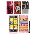 For Nokia Lumia 521 DIAMOND BLING CRYSTAL HARD Case Phone Cover + Pen