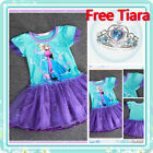 Kids Girl FROZEN ELSA ANNA Christmas Party Outfit Flower Girls Dresses SIZE 3-8Y