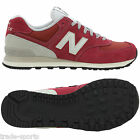 NEW BALANCE 574 MENS UK SIZE 7 8 9 10 11 RED LEATHER TRAINERS SHOES RETRO RUNNER