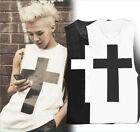 BIGBANG G-dragon Tank Crooked MV CROSS T-Shirt Tanktop KPOP very cool HOT USHF