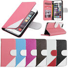 For Apple iPhone 6 / iPhone 6S Leather Flip Cover Credit Card Wallet Stand Case