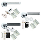 Cares Internal Door Handles Sets Lever On Rose Door Handle Packs Dual Chrome