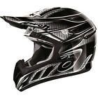 Airoh CR901 Linear Motocross Crash Helmet X-small Black Silver Gloss RRP £165!!