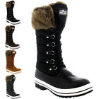 Womens Nylon Warm Side Zip Fur Duck Muck Lace Up Rain Winter Snow Boots UK 3-10