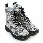 Dr Martens Women's Pascal Party People Leather Lace Up Boot Black / White