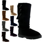 Womens Toggle Knitted Cardy Classic Fur Lined Winter Snow Rain Boots UK 3-10