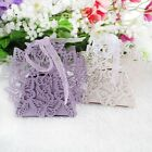 20/50/100pcs Hollowed Butterfly Wedding Party Favour Boxes Candy Chocolate Box