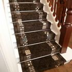 Block Brown - Stair Carpet Runner For Narrow Staircase Quality Modern Cheap New