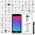 For LG Leon C40 Destiny Power TPU SILICONE Bumper Soft Case Phone Cover + Pen