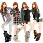 2 x Women Soft Lower Leg Shoes Ankle Warmer Boot Sleeves Cover multi color B20E