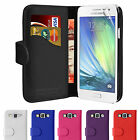 Wallet Flip Leather Case Cover For Samsung Galaxy A3 & Free Screen Protector
