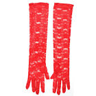 Women Bridal Prom Wedding Driving Summer Anti UV Full Finger Lace Gloves