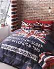 BRITAINS FINEST REVERSIBLE DUVET COVERS QUILT SET UK FLAG SINGLE DOUBLE KING
