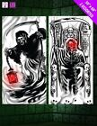 Light Up Halloween Door Covers - Horror Party Decorations Blood Grim Reaper