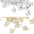 Внешний вид - Lot of 50 Small Little Horse Head Drop Charms Plated Over Brass Base Metal
