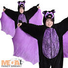 Kids Scary Bat Animal Halloween Fancy Dress Child Boys Girls Costume Outfit NEW