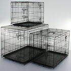 Dog Cage Crates Puppy Small Medium Large Pet Carrier Training Folding Metal Cage