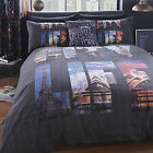Catherine Lansfield City Life New York London Duvet Quilt Cover Bedding Set